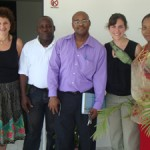 sarah, alison with CFTC Haiti staff