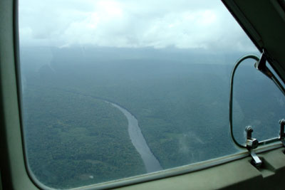 Guyana interior from plane