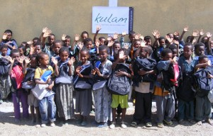 Students receive Kinder Kits at new school in Ethiopia