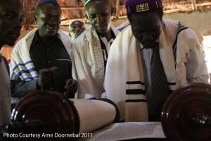 the first recitation from the newly received Torah